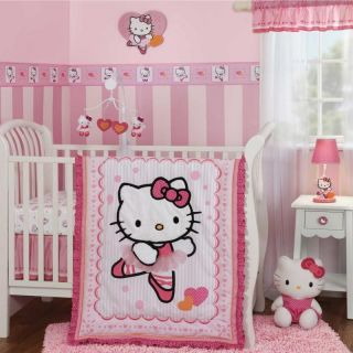 Hello Kitty Ballerina 4 Piece Crib Bedding Set with Bumper by Bedtime