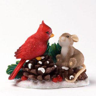 CHARMING TAILS Mouse Figurine Christmas Cardinal 4027659 SO BEAUTIFUL