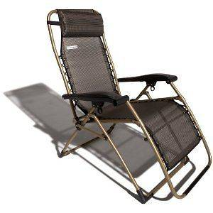 Strathwood Anti Gravity Adjustable Recliner Chair Seat Brown Back Legs