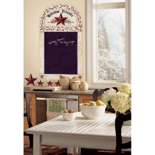 New COUNTRY STARS & BERRIES CHALKBOARD WALL STICKERS Kitchen Decals