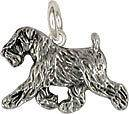 Soft Coated Wheaten Terrier charm jewelry silver SCW10c