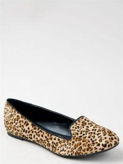 Women Animal Leopard Print Loafer Flat Shoe brown Tan Cheetah wild