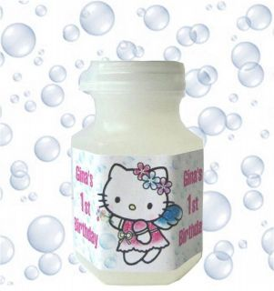 Hello Kitty Mini BUBBLE Bottle Wrappers Labels Birthday Party Shower