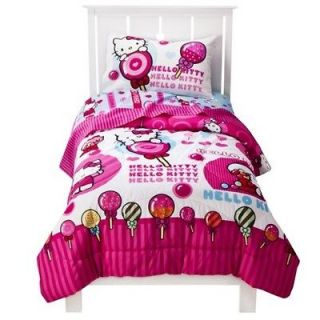 Hello Kitty Sweet Scents 4 Piece Twin Size Comforter & Sheet Set