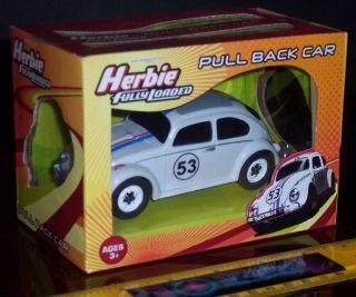 HERBIE THE LOVE BUG FULLY LOADED VW BEETLE PULL BACK ROLL BACK