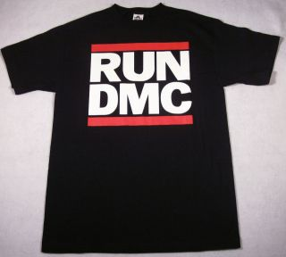 RUN DMC JMJ Retro T shirt New Rap Hip Hop Tee Black Adult XL New