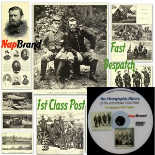 The Photographic History of the US Civil War 10 Volumes on DVD + much
