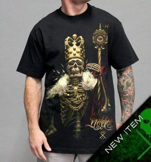 Sullen Nikko King T Shirt Black clothing mens hip hop tattoo skull