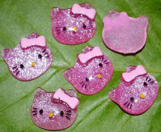 New 20pcs Resin Hello Kitty Cats Flat back Cabochons H32
