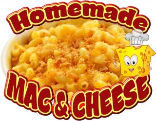 Homemade Mac & Cheese Decal 10 Restaurant Concession Food Truck