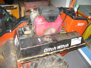 Ditch Witch Walk Behind Trencher 1820, 04, 100 hours
