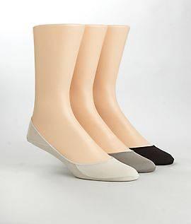 Calvin Klein Mens Dress Shoe Cotton Liners 3 Pack Hosiery,