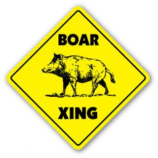 Sign xing gift novelty pig hog wild hunter hunt tusk trap kill
