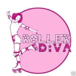 Roller Diva Derby Skate Funny Vintage Look T shirt