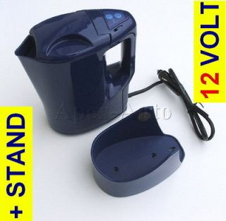Car Van Portable Travel Hot Water Heater Tea Coffee + ITS OWN STAND