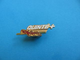 Quinte + Pin Badge. Horse Racing, Jumping, Sulky trotting. VGC. Hard