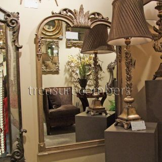 Large Gold Silver WALL Floor Mantle Mirror HORCHOW XL