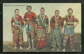 Bagobo man Women Costume Mindanao Philippines ca 1910