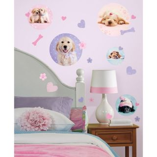 New Girls PUPPY DOG POLKA DOTS WALL DECALS Stickers