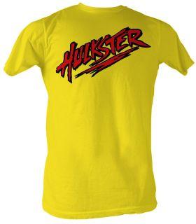 Hulk Hogan T shirt   Hulkster Hulkamania Adult Bright Yellow Tee Shirt