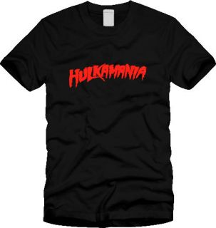 Retro HULKAMANIA SHIRT hulk hogan wwf wwe wcw logo wrestling