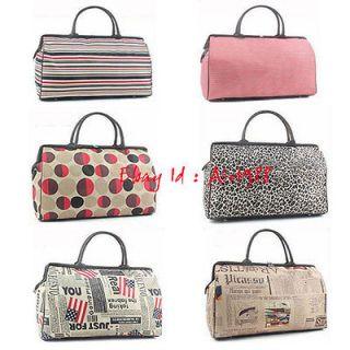 Women Girl Duffle Travel Bag Suitcase Carryon Shoulder Hand Luggage