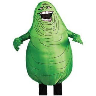 Mens Ghostbusters Slimer Costume Inflatable Slime Suit Funny Halloween