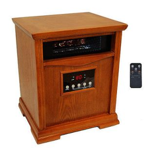 Tranquility 1500 Watts Vintage Wooden Case Portable Infrared Heater