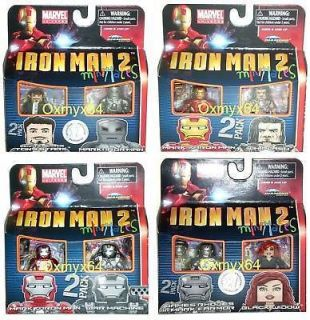 Minimates Iron Man 2 TRU Series 1 Set of 8 Black Widow