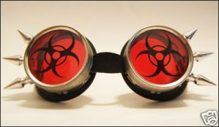 Biohazard Cyber Goth Goggles Rave Industrial EBM Pants