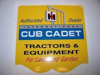 Cub Cadet International Harvester Sign Decal 6x6