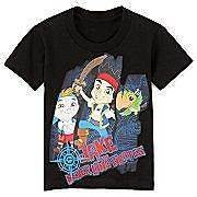New NWT Jake and the Neverland Pirates boys S/S graphic shirt top 2T