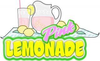 Pink Lemonade Concession Decal 18 Food Truck Mobile Van Restaurant