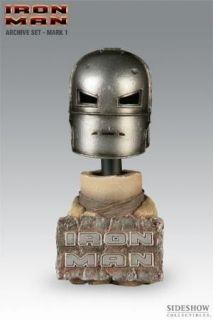 SIDESHOW Marvel iron man ARCHIVE MARK I HELMET bust SET