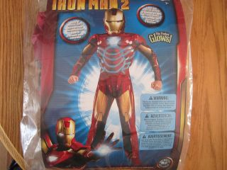 Iron Man 2   Mark VI Muscle Costume Size 8 CHEST GLOWS