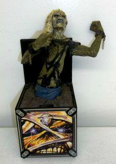 Iron Maiden Eddie Edward Head Jack in the Box Tear on left side