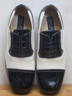 MEN ITALIAN STYLE BLACK & WHITE SHOES SIZE 11 NEW MENS DRESS SHOES