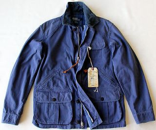 New $295 Polo Ralph Lauren Safari Cargo Jacket Washed Blue S