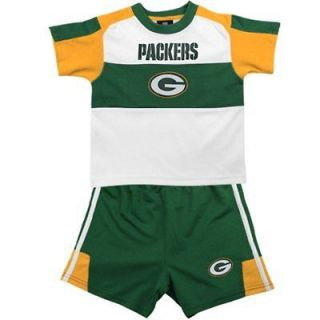 NFL BABY INFANT KID GREEN BAY PACKERS SUPERFAN GIFT OUTFIT SET SHIRT