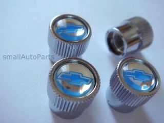 Chevrolet Mirror Blue Logo Chrome ABS Tire/Wheel Stem air Valve