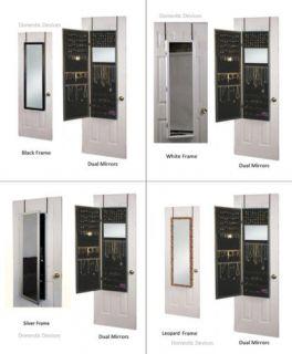 Jewelry Mirrored Armoire Cabinet & Organizer Door Hang