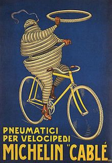 ITALY MICHELIN CABLE BICYCLE BIKE PNEU TIRE ITALIA VINTAGE POSTER