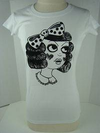 Jessica Louise White Doll Girl Tee Shirt 1271