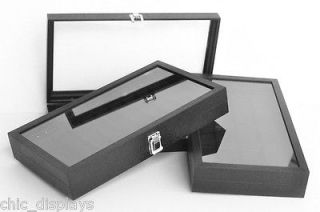RING BOX BLACK RING DISPLAY CASE WOODEN RING CASE LARGE JEWELRY BOX