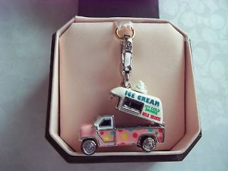 NIB JUICY COUTURE ICE CREAM TRUCK CHARM SILVER