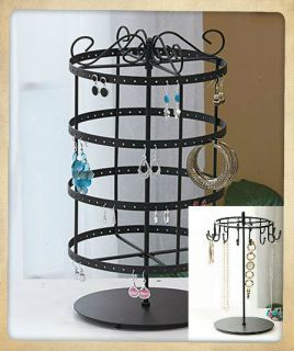 REVOLVING JEWELRY HOLDER STAND STORAGE ORGANIZER EARRING NECKLACE