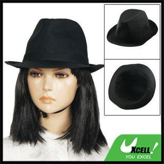 Cloche Style 4.3 Depth Black Cotton Blends Hat for Lady