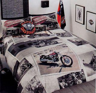 Harley davidson queen size bedding in bedding for Tattoo bedding queen