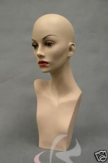 Mannequin Head Bust Wig Hat Jewelry Display #BarbaraF1