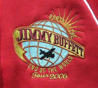 Jimmy Buffett 2006 Party @ the End of the World Tour Red Zip